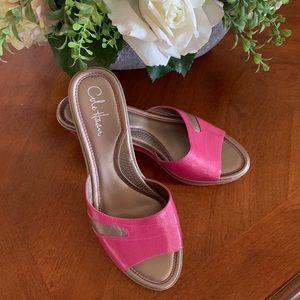 Cole Haan Pink Nike Air Wedge Slippers